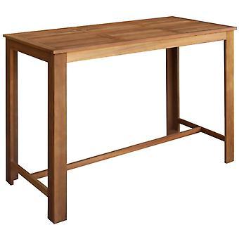vidaXL Bar table acacia wood solid 150 x 70 x 105 cm