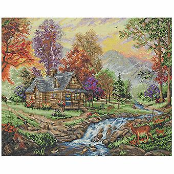Anchor Counted Cross Stitch Kit: Maia Collection: Mountain Retreat
