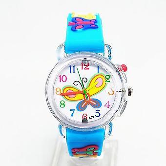 Flash Light Butterfly Luminous Watch