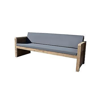 Wood4you - Tuinbank Vlieland - 'Doe het zelf' Bouwpakket steigerhout 180Lx72Hx57D cm - Incl kussen