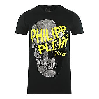 Philipp Plein Grote Graffiti Schedel Zwart T-Shirt