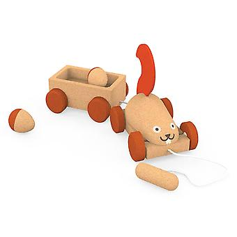 Elou Squirrel Trailer Pull Along Toy