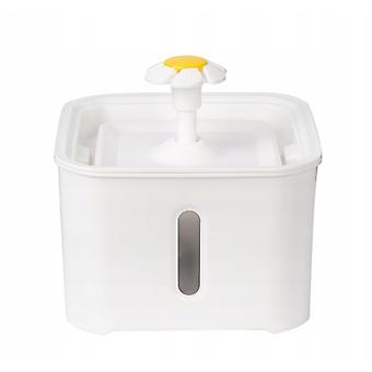 Hsla Smart Pet Water Dispenser Automatically Circulates And Filters White