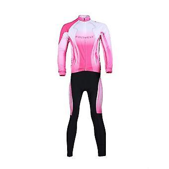 サイクリング服セット自転車自転車屋外長袖ジャージー+ロングパンツ女性用通気性