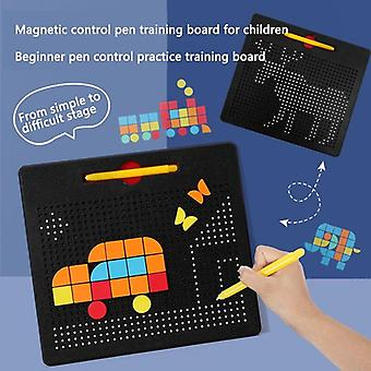 Magnetic Control Pen Training  Educational Kid  Old Teen Children Game Boy Girl Draw Puzzle
