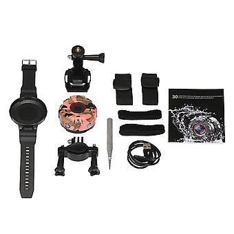 Wifi fonksiyonu ip68 su geçirmez ile akıllı giyilebilir kamera saat tarzı açık hava sporları