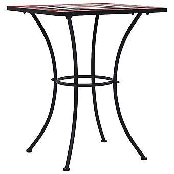 vidaXL mosaiikki bistro pöytä terrakotta ja valkoinen 60 cm keramiikka