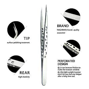 1pcs Set,Profissional Eyelashes Tweezers Eyelash Extension Stainless Tweezer Nail Tools tweezer