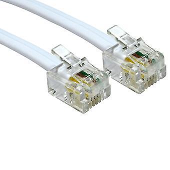 RJ11 (M) til RJ11 (M) 3m hvit OEM-kabel