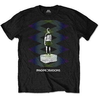 Imagine Dragons - Zig Zag Men's Large T-Shirt - Black