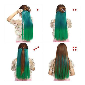 10 Gradient ramp straight cosplay wig hair extension 5 cards dt1362