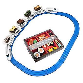 Eet draaiende speelgoedtrein elektrische trein simulatie speelhuis