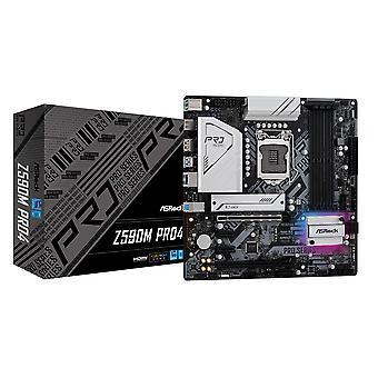 アスロック Z590M PRO4, インテル Z590, 1200, マイクロ ATX, 4 DDR4, XFire, HDMI, DP, RGB, 2x M.2