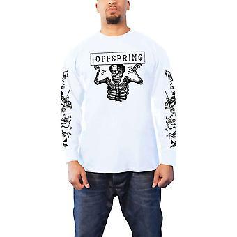 The Offspring T Shirt Skeletons Band Logo new Official Mens White Long Sleeve