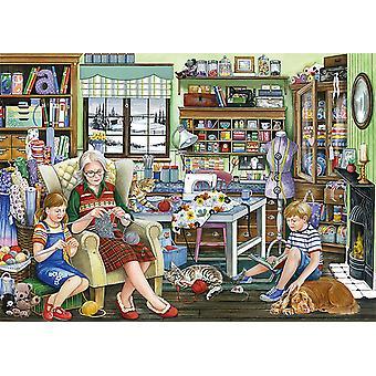 Puzzle della sala da cucire della nonna Falcon Deluxe (1000 pezzi)