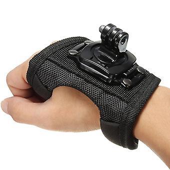 סיבוב מחזיק רצועת יד פרק כף היד, הרכבה למצלמה