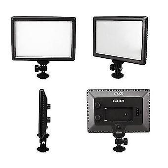 Luxpad22 Pro Ultra Thin 112-LED 11W Video Light Pad til Canon Nikon DSLR Kamera DV Videokamera