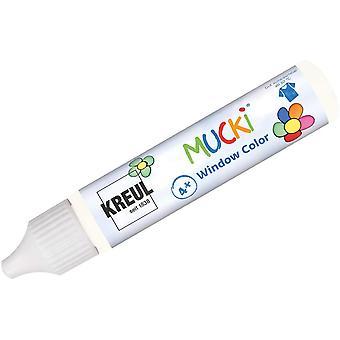 24402 - Mucki Window Color, weiß, 29 ml Pen, Fenstermalfarbe auf Wasserbasis, parabenfrei,