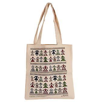 Biggdesign Strap Cream Color Tote Cloth Bag, Design et motif authentiques, 30 cm, Utilisation confortable, Pliable, Lavable