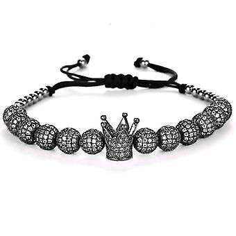 Bracelet-Crown and black beads