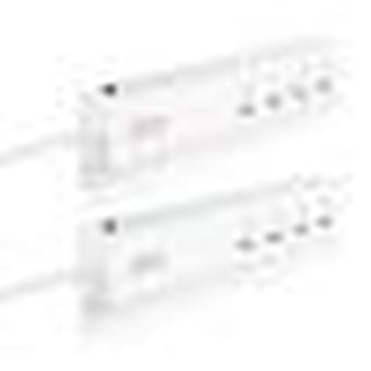 قطاع الطاقة الذكية 16a، شريط الطاقة الذكية حبل تمديد منفذ متعددة مع 2 USB و 4 ac المقابس بواسطة tuya