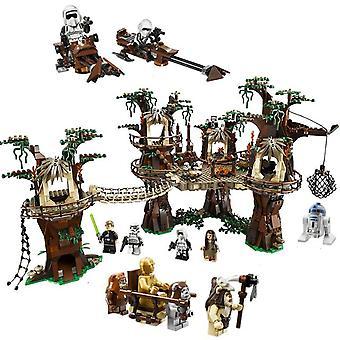 Nova estrela 05047 guerras compatíveis lepining 10236 ewok aldeia guerras definir edifício tijolos tijolos crianças brinquedos presentes de Natal