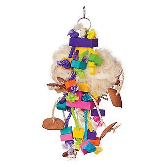 "Prevue Bodacious Bites Tough Puff Bird Toy - 1 Pack - (7""W x 17""H)"