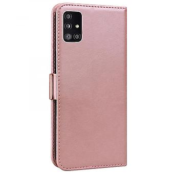 Case For Samsung Galaxy A51 5g Wallet Flip Pu Leather Cover Card Holder Coque Etui - Pink Cat
