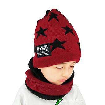 Cute Baby Five-pointed Star Hat And Scarf Set