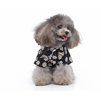 Pet Clothing Pet Clothing Hawaiian Shirt Pet Dog Clothing Pet Plaid Shirt Beach Dog Plaid Shirt (black Xl)