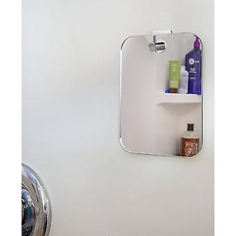 Espejo de ducha colgante en la pared, espejo de afeitado irrompible, afeitado bien niebla
