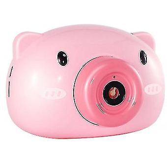 Automatique Mignon Cartoon Pig Camera Forme Bubble Machine Avec Musique