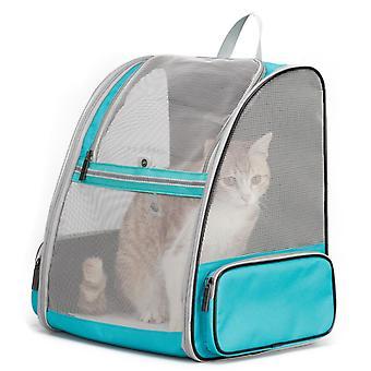 Space Capsule Sac à dos transparent pour animaux de compagnie pour la randonnée et les voyages en plein air (vert)