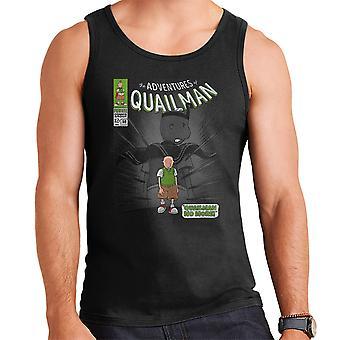 Quailman No More Doug Comic Superhero Men's Vest