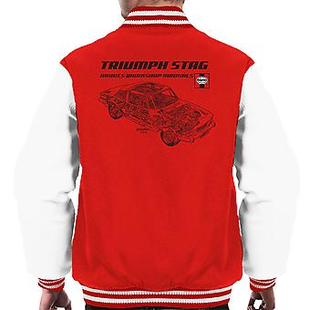 Haynes Workshop Manual 0441 Triumph Stag Black Men's Varsity Jacket