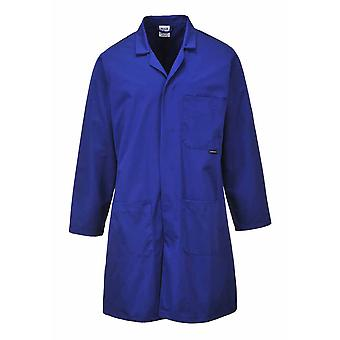 Portwest - Standard Lab Medical Coverall Coat Royal Medium