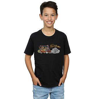 The Flintstones Boys Family Car Distressed T-Shirt