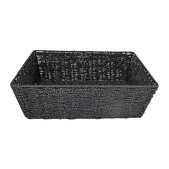 Bandeja de corda de papel preto médio