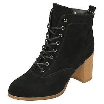 Senhoras para baixo a terra pilha alta calcanhar tornozelo botas F50799