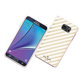 5 Pack -Kate Spade New York Flexible Hardshell Case for Samsung Galaxy Note 5 (Gold Diagonal Stripe)