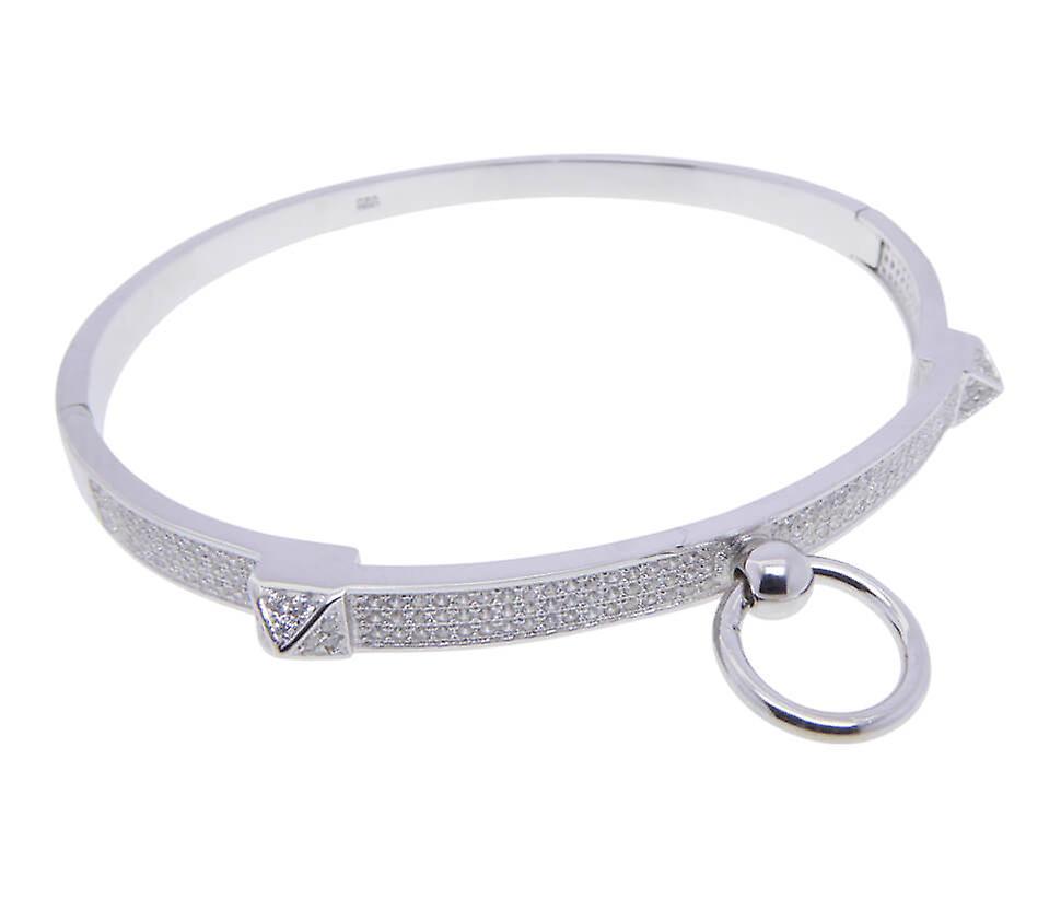 Silver Christian slave bracelet