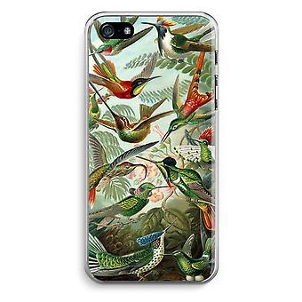 iPhone 5 / 5S / SE transparant Case (Soft) - Haeckel kolibries (Trochilidae)