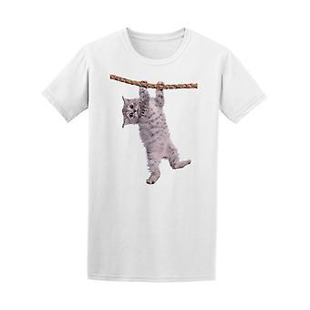 Kitten roikkuu köyden Tee Men-kuva: Shutterstock