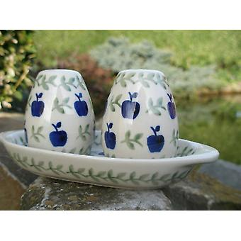 Salt + pepper set with pedestal, tradition 50, BSN m-5071