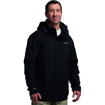 Chaqueta de Shell con capucha de mate impermeable de regata para hombre negro RMW201