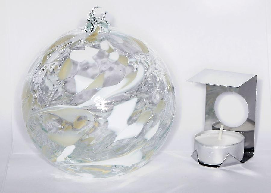 Milford Collection Hanging Glass Tealight Holder - Diamond