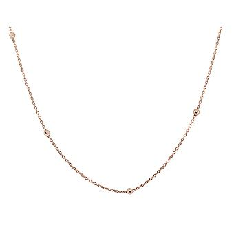 Orphelia Silver 925  Chain 42+3 Cm Rose Gold Balls  ZK-7200/RG