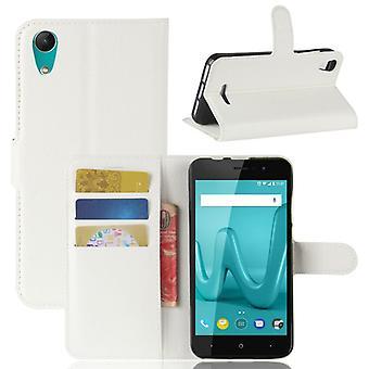 Pocket lommebok premium white til WIKO Lenny 4 beskyttelse ermet coveret veske nye