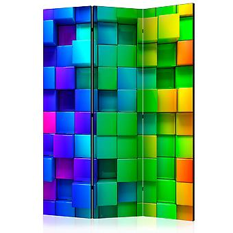 3-teiliges Paravent - Colourful Cubes [Room Dividers]