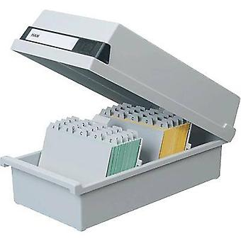 HAN 956-11 956-11 Card index box Light grey No. of cards (max.): 1.300 cards A6 landscape
